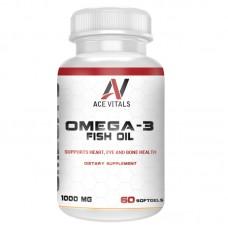 AceVitals Omega-3 Fish Oil- 60 Softgels