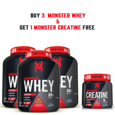Buy 3  Monster Whey  &  get 1 Monster Creatine free