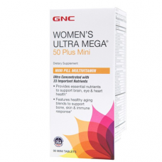 GNC Women's Ultra Mega 50 Plus Mini- 90 Mini Tablets