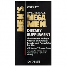GNC Timed Release Mega Men 100 Tablets