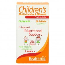HealthAid Children's MultiVitamins and Minerals Chewable 30 Tablets