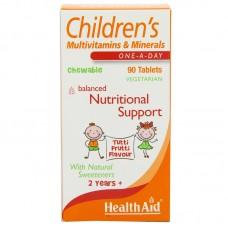HealthAid Children's MultiVitamins and Minerals Chewable 90 Tablets