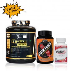 Musclemantra Whey Fat Burning Combo (Free MM T-Shirt)