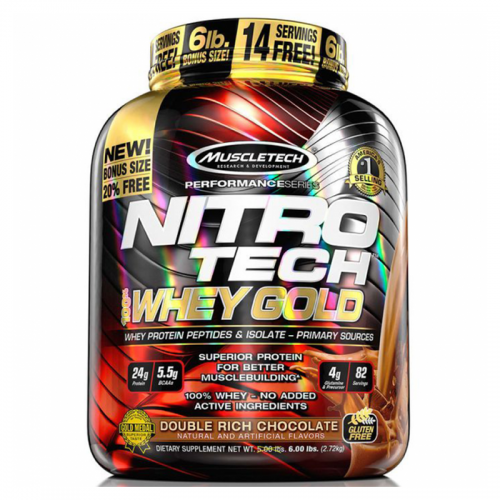 Muscletech Nitro-Tech 100% Whey Gold 6 Lbs