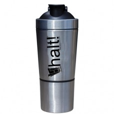 Halt Stainless Steel Shaker Bottle with Compartment 20 OZ