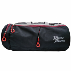 Musclemantra Gym Bag (Black/Red)