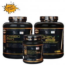 Musclemantra Whey Protein Muscle Gain Combo (Free T-Shirt)